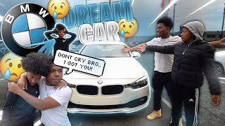 I SURPRISED MY 16 YEAR OLD BROTHER WITH HIS DREAM CAR! *first time he was emotional*