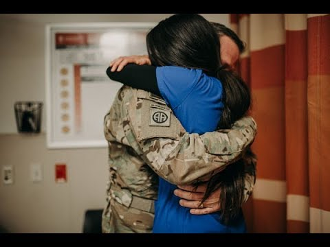 ER nurse gets surprise homecoming from military husband