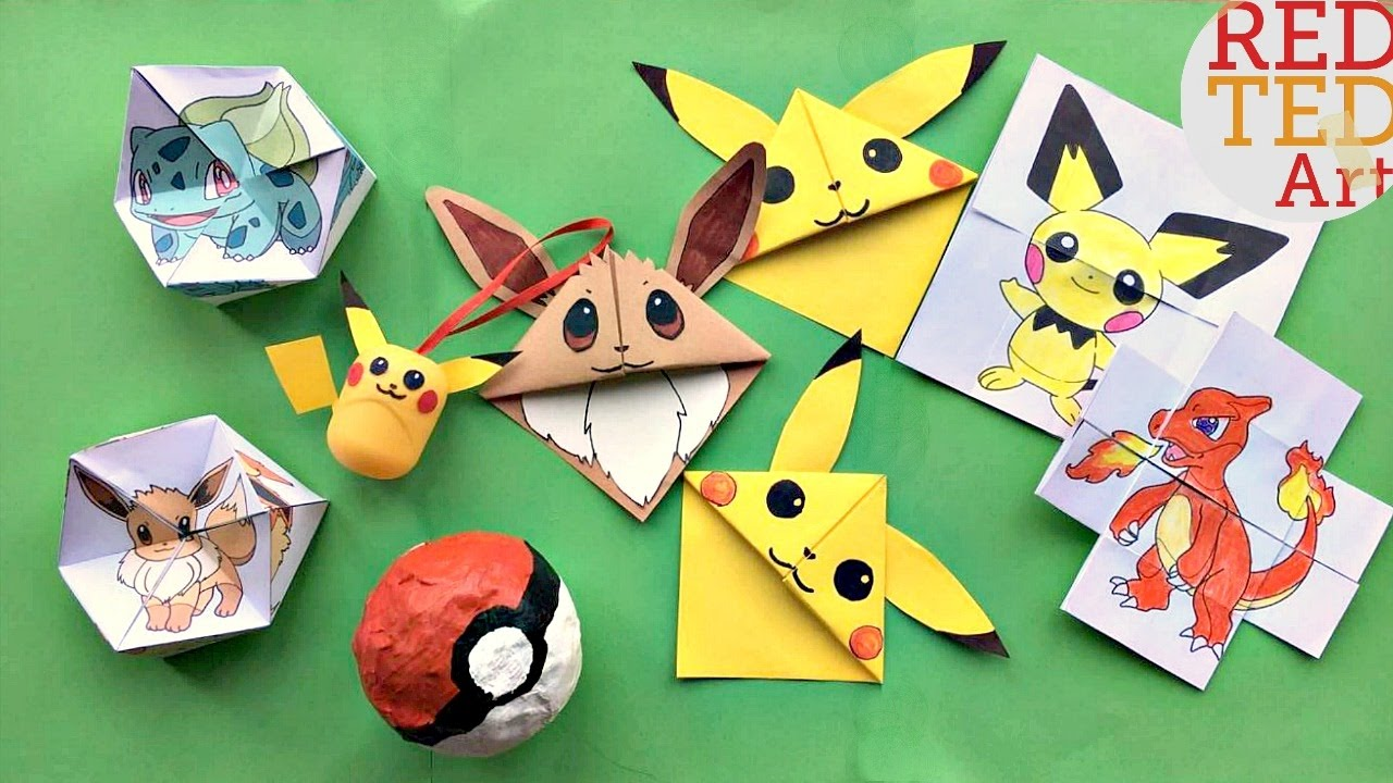 Easy Pikachu Bookmark Corner - Pokemon Go - Origami - YouTube | 720x1280