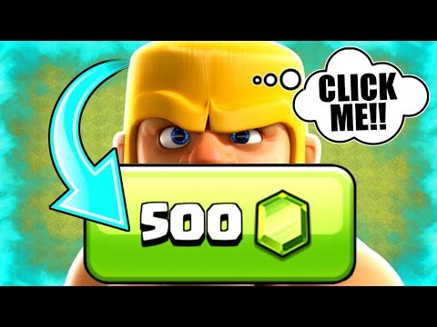 CLICK THIS BUTTON TO LEVEL UP FOR 500 GEMS......YES Or NO!? - Clash Of Clans