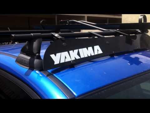 2011 SUBARU WRX YAKIMA ROOF RACK WALK AROUND