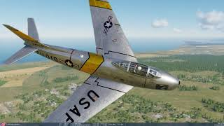 DCS World - F-86 First Startup, Takeoff, and Landing