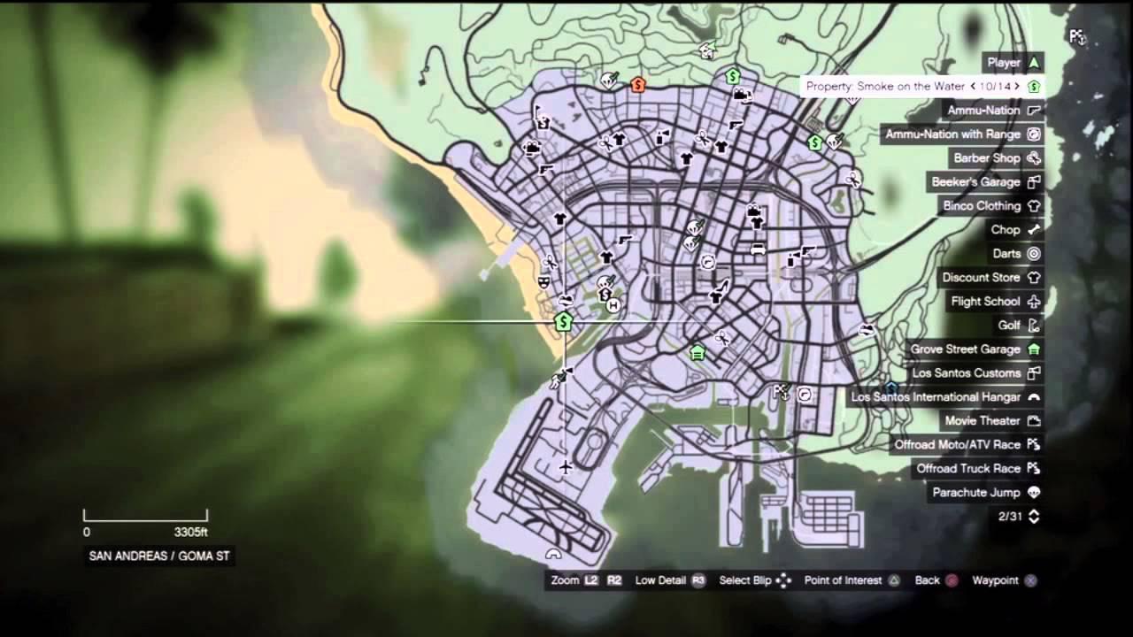 GTA V ALL 25 Purchasable Properties LocationsCostsIncome