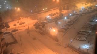 Ankara'da Kar Yağıyor - Çayyolu Türkkonut