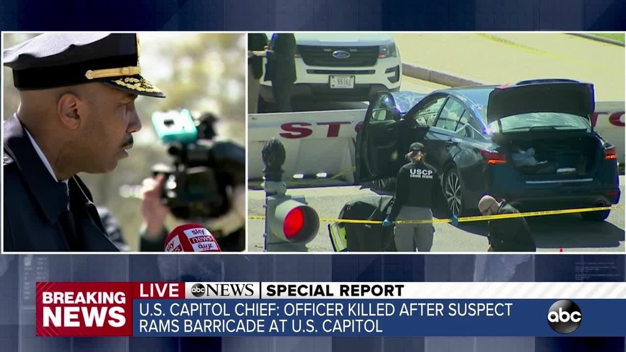 Capitol officer killed after suspect rams barricade identified; suspect ...