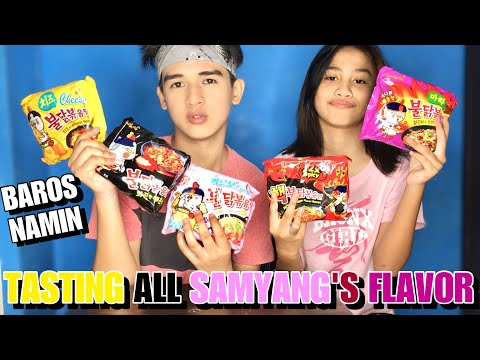 TASTING ALL SAMYANG'S FLAVOR (FUNNY TO) Ft. Pinsan - Louis Pre Jr.