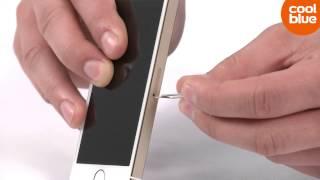 Hoe plaats ik een SIM kaart in de iPhone 5S?