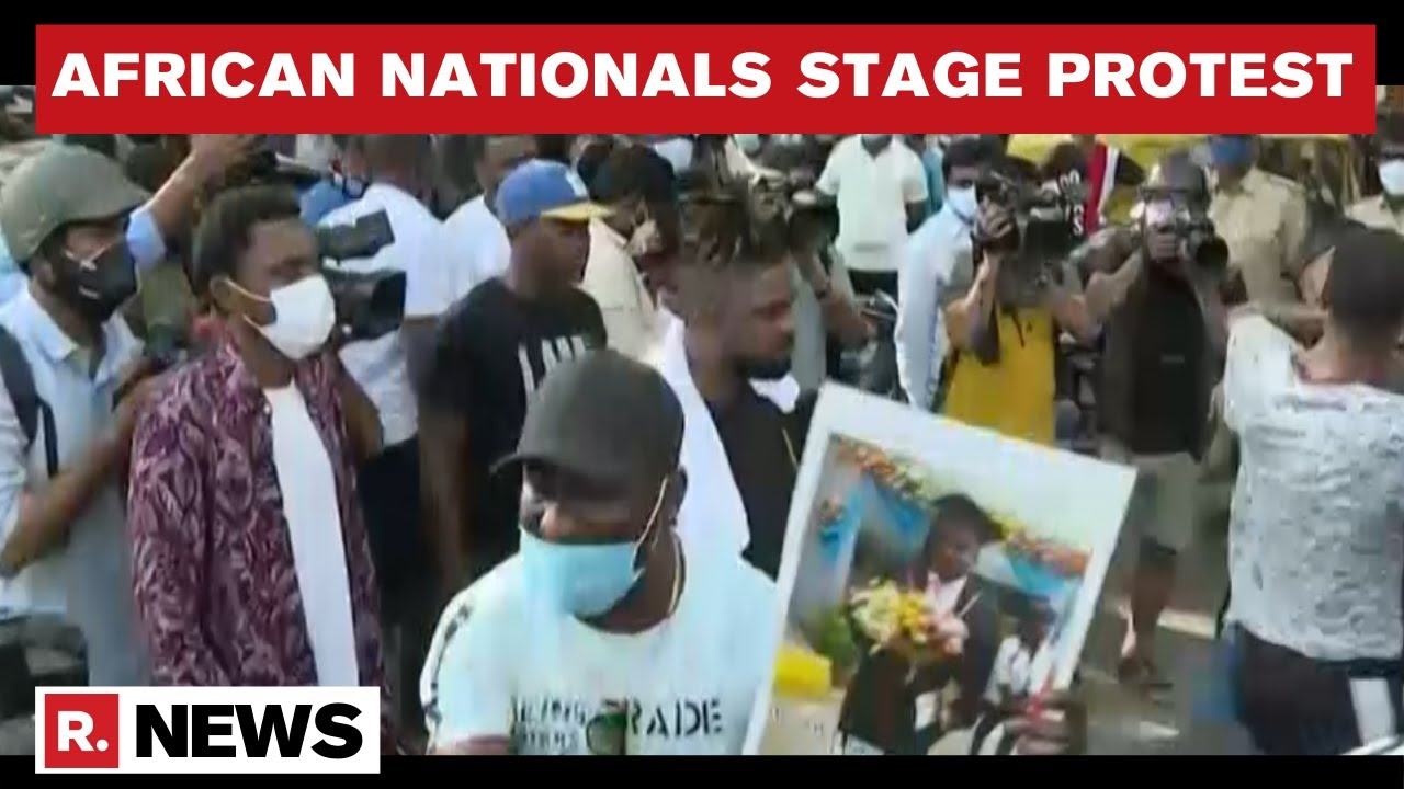African Nationals Stage Protest In Bengaluru Over Alleged Custodial Death Of Congo Citizen