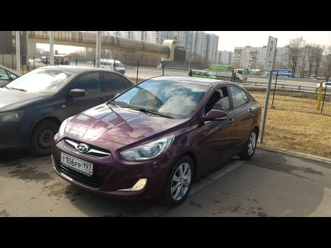 Осмотр Hyundai Solaris 2011 1.4AT