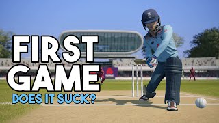 CRICKET 19 | First Impressions and HONEST Review (First Game)