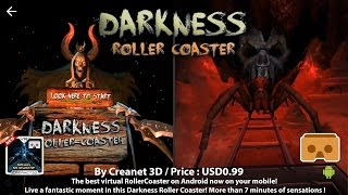 Darkness Roller Coaster VR - 2016 Best VR 3D SBS Roller Coaster for Google Cardboard.