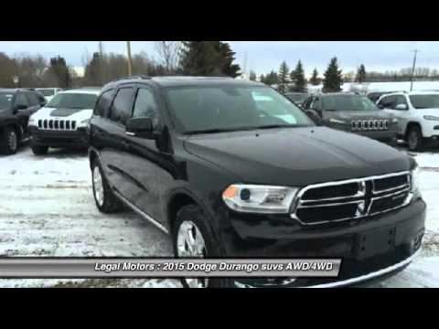 2015 Dodge Durango Legal Alberta GBT191