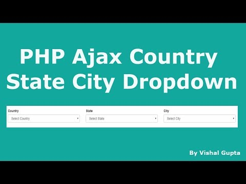 PHP Ajax Country State City Dropdown With PDO In Hindi