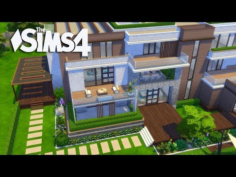 The Sims 4 - Let's Build a Modern Mansion (Part 7 ) Realtime