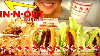 IN-N-OUT Burger MUKBANG 먹방 ASMR American Food Eating Show Eating Sounds