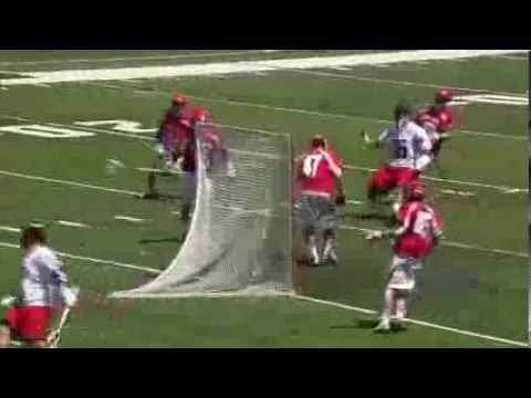 Maryland LSM Jesse Bernhardt scores after outlet pass from goalie Niko Amato