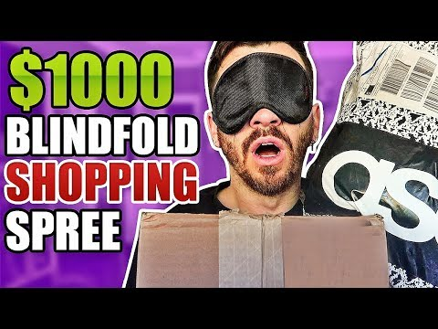 Buying A $1000 Outfit Blindfolded!! (100% RANDOM CLOTHING HAUL AND UNBOXING!!)