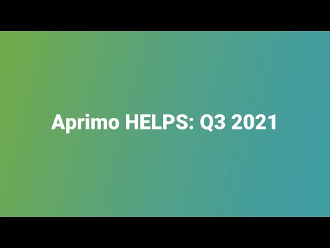 Aprimo HELPS Impact Meeting Video