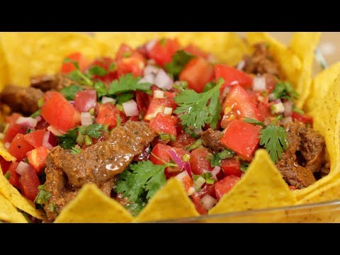 Taco Salad (Spicy Salsa and Taco Meat Recipe) | Cooking with