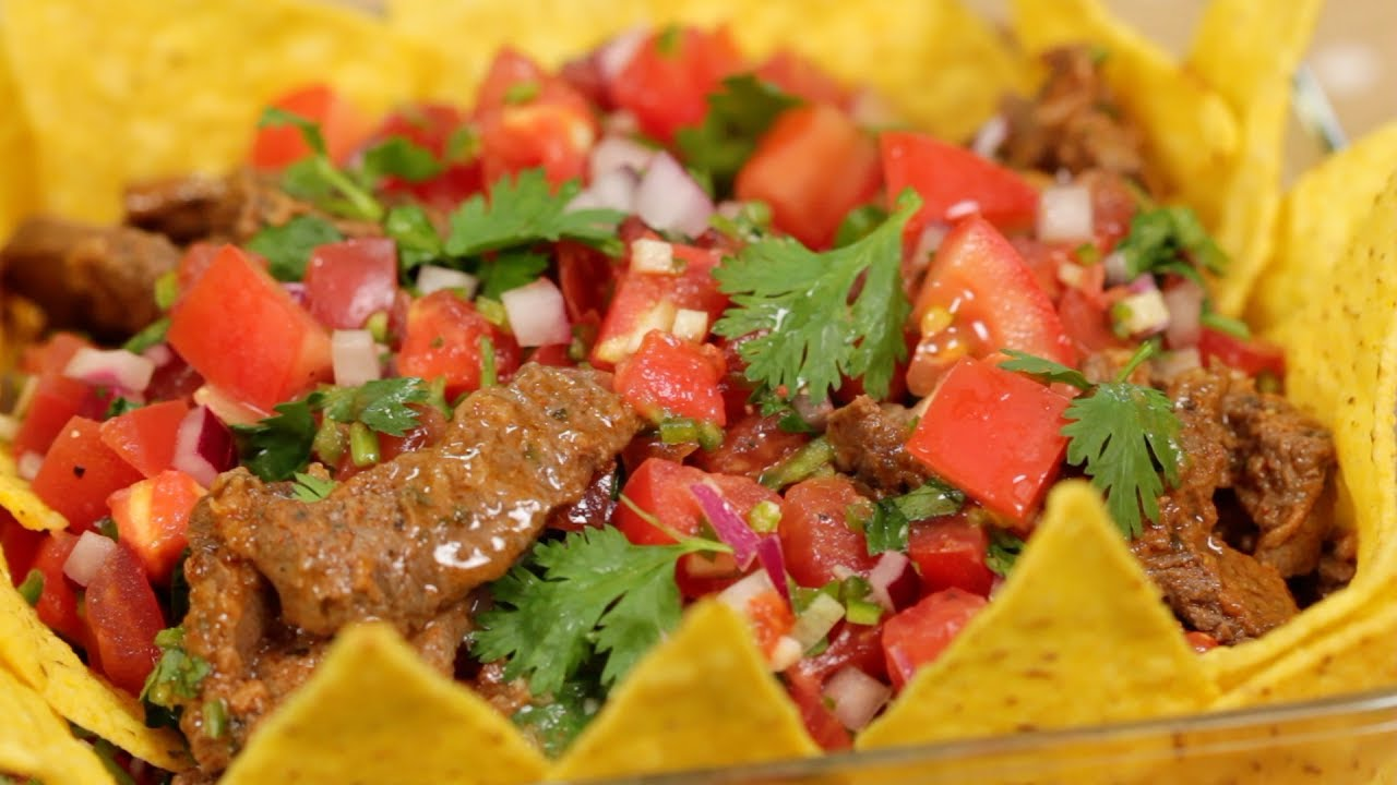Taco Salad (Spicy Salsa and Taco Meat Recipe) | Cooking with Dog