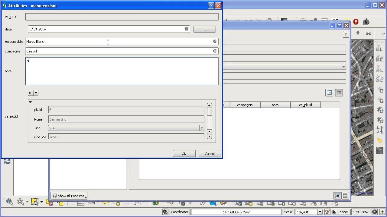QGIS, relazioni e widget