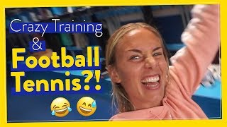 Crazy Football Training & Football Tennis!? #WhySoSerious