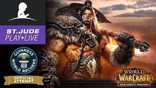 Guinness World Record for Longest Marathon of World of Warcraft