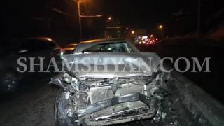 Խոշոր ավտովթար Երևանում  Nissan ը բախվել է Toyota ին, վերջինն էլ՝ Volkswagen ին