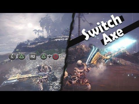 MONSTER HUNTER WORLD: Switch Axe Showcase (Combos & Moveset) thumbnail