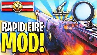 NEW RAPID FIRE MOD... 💀 (DOUBLE NUKE & V2 ROCKET) - COD WW2 1.20 UPDATE