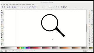 Drawing a magnifying  glass in Inkscape
