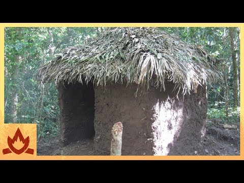 Thumbnail: Primitive Technology: Palm Thatched Mud Hut