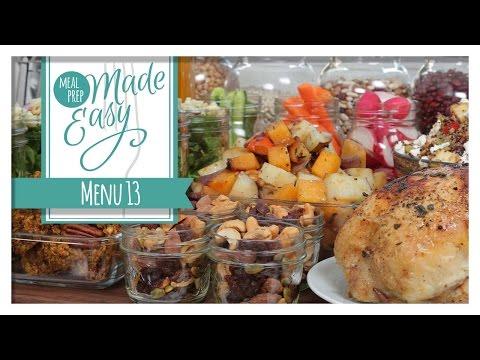 Healthy Meal Prep | Menu 13 | Pumpkin Spice Cookies, Autumn Quinoa Salad, Butternut Squash Soup