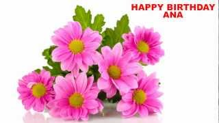Ana - Cumpleanos - flowers - Happy Birthday