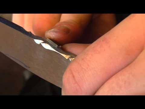 File work on a knife