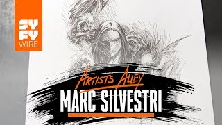 Witchblade Artist Marc Silvestri Sketches The Darkness (Artists Alley) | SYFY WIRE