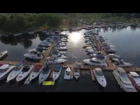Bird's Eye View Of Peterborough, Orillia And Fenelon Falls Ontario Canada. Drone Aerial Photography