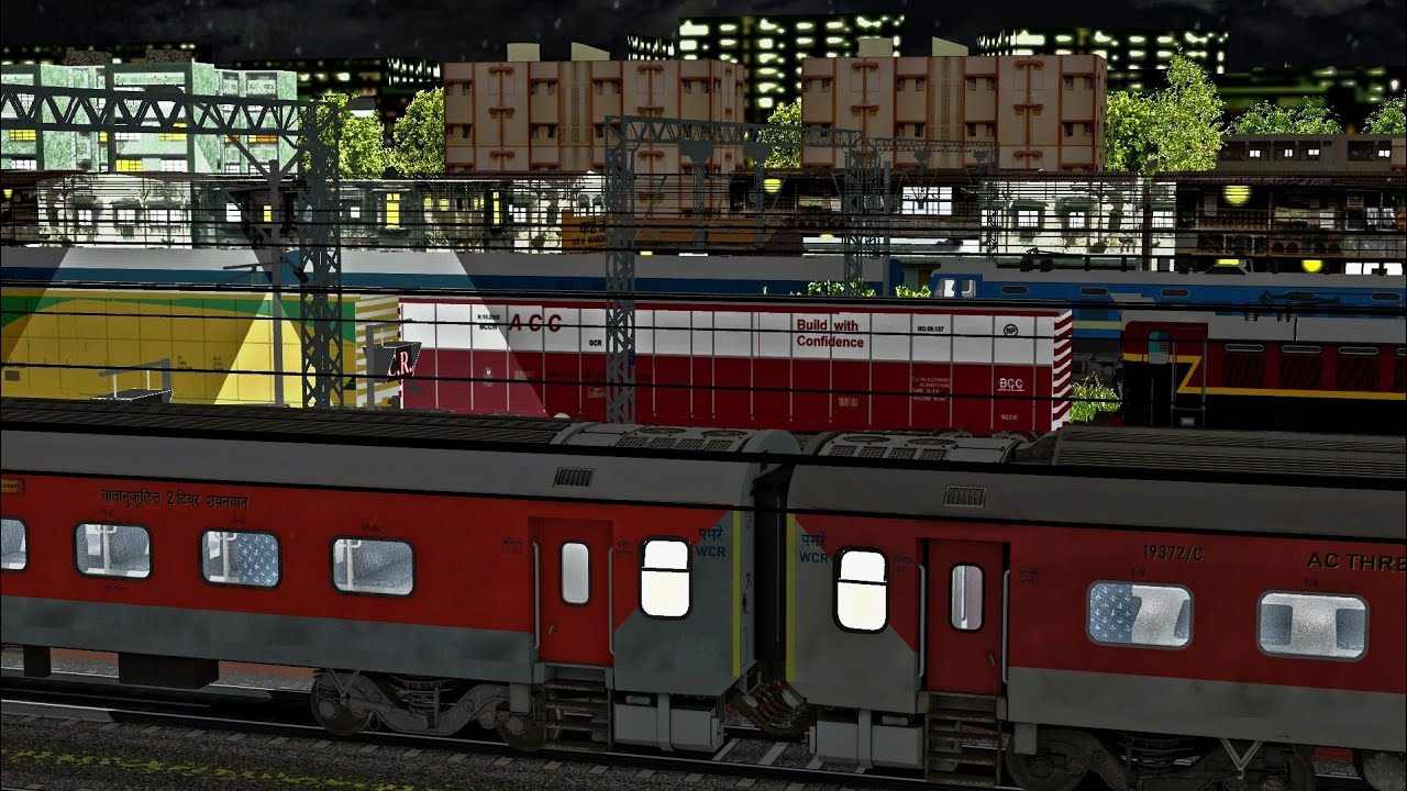 Amaravati Express Night Train Journey || Part 2 Amaravati - Jabalpur Express In IR-MSTS