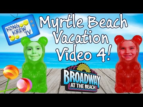 Myrtle Beach, SC Vacation Video 4! Spider Attack, Its Sugar, Magic Shop, Broadway at the Beach