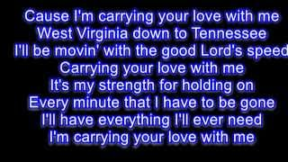George Strait Carrying Your Love With Me Karaoke