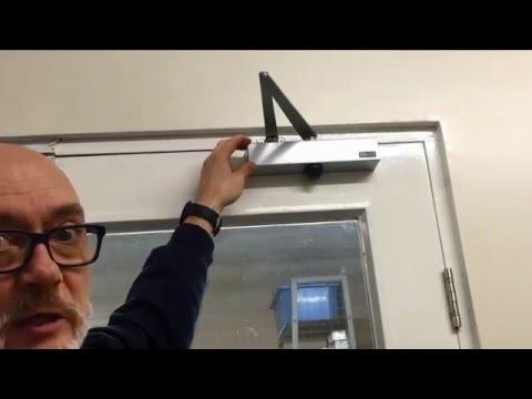 How To Adjust An Overhead Door Closer From Lock Assist