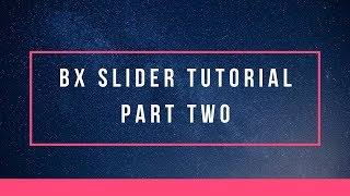 How to use bxSlider for your website | JQuery bxSlider