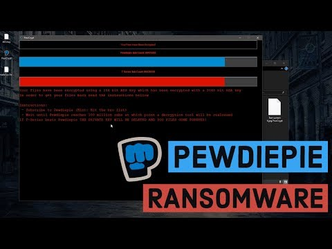 PewDiePie fan unleashes ransomware that encrypts hard drives until he gets 100M subscribers