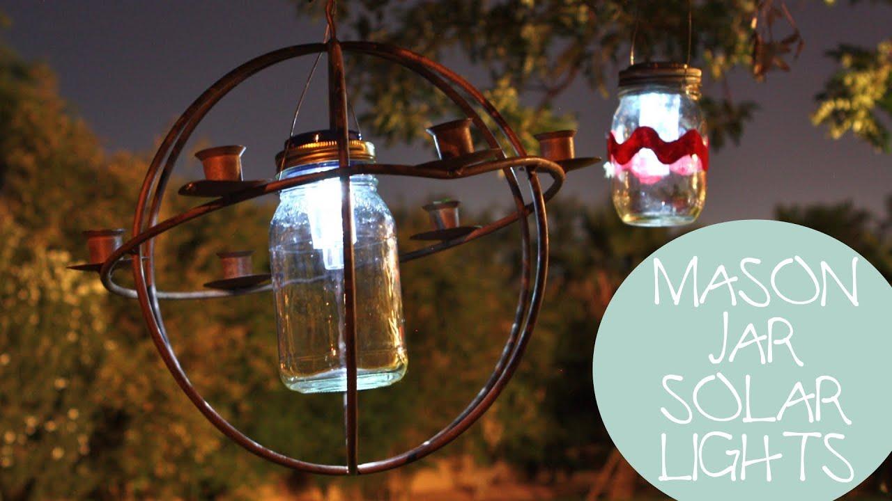 4th of July Decoration Ideas: Mason Jar Solar Lights DIY ...