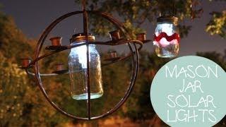4th Of July Decoration Ideas: Mason Jar Solar Lights Diy