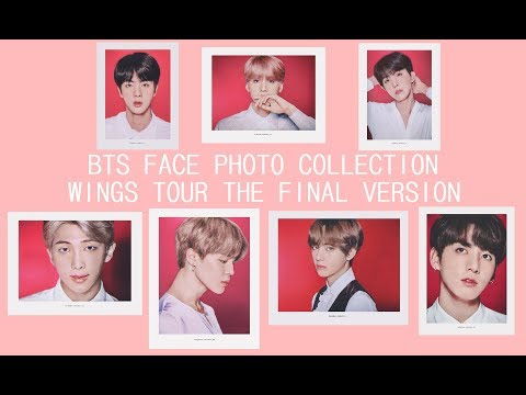 BTS FACE PHOTO COLLECTION COLORED VERSION [WINGS TOUR THE FINAL VER]