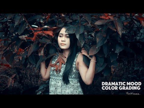 Dramatic Portrait Color Mood | Photoshop Tutorial Moody Dark thumbnail