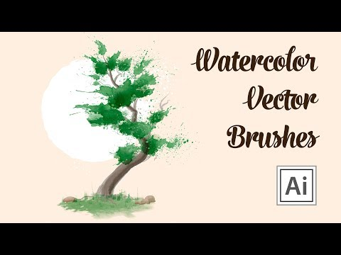 Watercolor Drawing With Vector Brushes - How To Draw A Tree In Adobe Illustrator