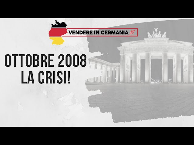 L'ottobre del 2008 è ricordato come l'inizio della grande crisi. Tu la ricordi?