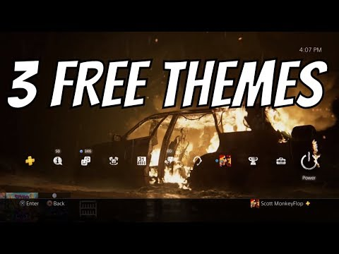 FREE PS4 THEMES - Sweet Dynamic Themes!